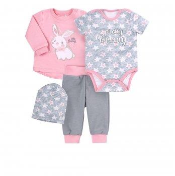 Комплект для девочки Bembi Розовый/Серый Интерлок КП223