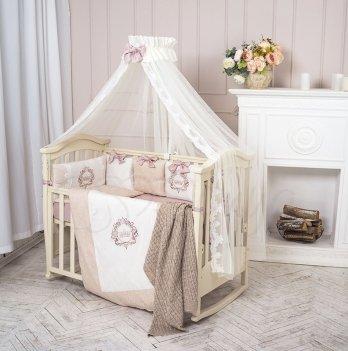 Комплект Маленькая Соня Elegance, стандартная кроватка, бежевый