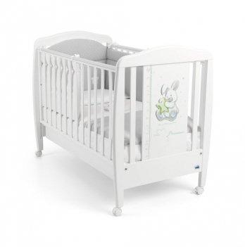 Кроватка детская Cam Coniglio, бук, белая