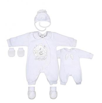 Комплект крестильный для девочки Garden baby, белый