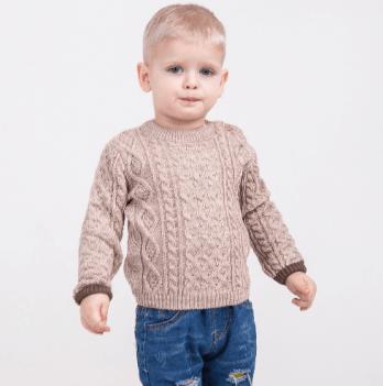Вязаный свитер на мальчика ТМ Lutik, бежевый