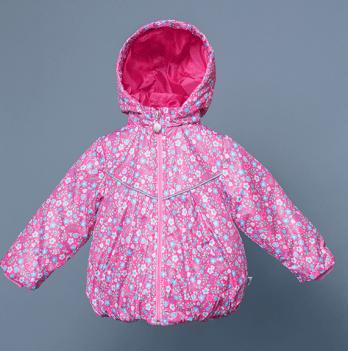 Ветровка утепленная для девочки Модный карапуз, розовая