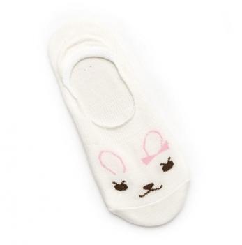Носки-следы для девочек Модный карапуз, молочные