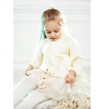 Кофточка весенняя ТМ Lutik Принцесса, молочная