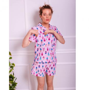 Пижама женская с шортиками Рjmood Мороженки
