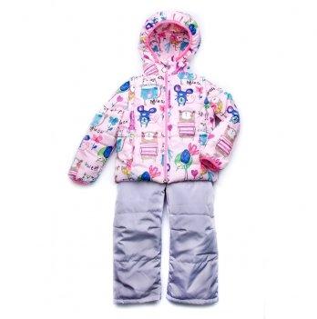 Куртка-жилет для девочки Модный карапуз Animals Розовый 03-00695