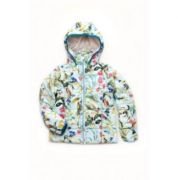Куртка-жилет для девочки Модный карапуз Голубой 03-00692
