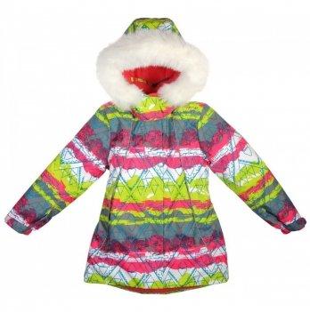 Куртка для девочек Garden baby, салатовая с малиновым