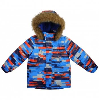 Куртка для мальчиков Garden baby, синяя с серым в полоску
