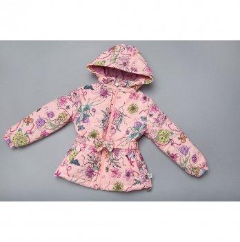 Демисезонная куртка для девочки Модный карапуз Персиковый 03-00842