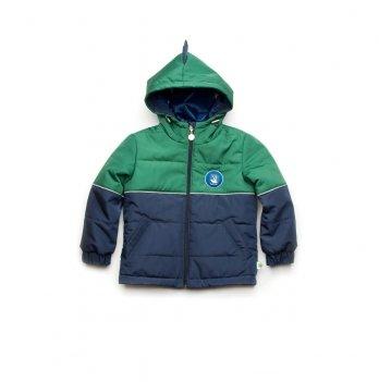 Куртка демисезонная для мальчика Модный карапуз Дино Зеленый 03-00957