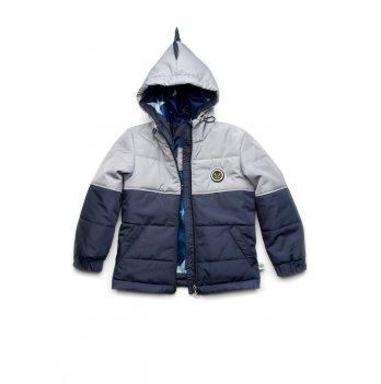 Куртка демисезонная для мальчика Модный карапуз Дино Серый 03-00957