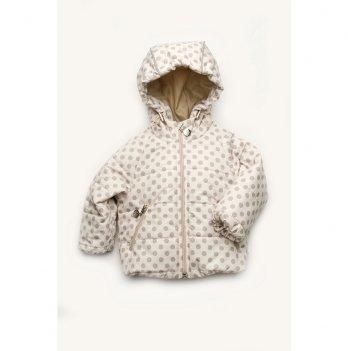 Демисезонная куртка для малышей Модный карапуз Молочный 03-00841