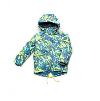 Куртка демисезонная для мальчика Абстракция Модный карапуз салатовый