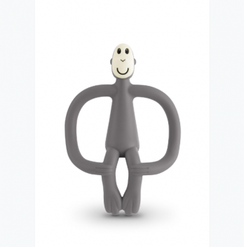 Игрушка-прорезыватель Matchstick Monkey Обезьянка, 10,5 см, серая