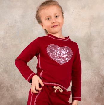 Реглан для девочки Модный карапуз, бордовый