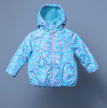 Ветровка утепленная для девочки Модный карапуз, голубая