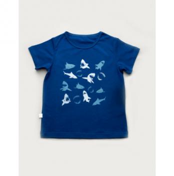 Футболка для мальчика Модный карапуз Акулы, синяя