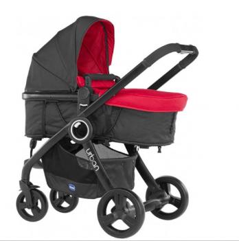 Коляска Chicco Urban Plus Stroller 2 в 1, красная