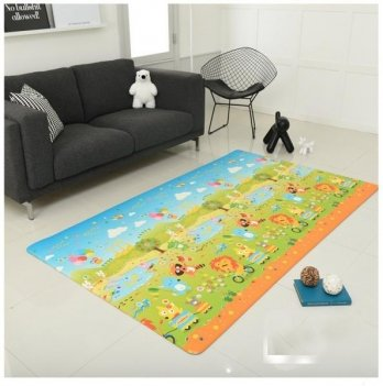 Игровой коврик ALZIPmat FUNIMAL, разноцветный, с рисунком, размер 240 х 140 х 1,2 см