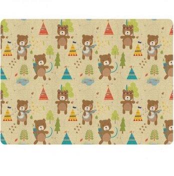 Игровой коврик ALZIPmat INDIAN BEAR, разноцветный, с рисунком, размер 240 х 140 х 1,2 см