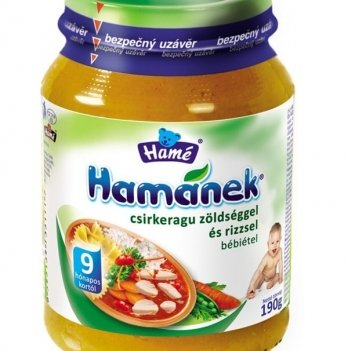 Пюре Hame Hamanek куриное рагу с рисом и овощами 190 г