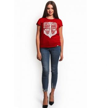 Футболка женская Модный карапуз LikeМe, красная