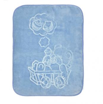 Одеяло детское Golden Spring, велюр, 100 х 100см, голубое