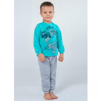 Пижама утепленная для мальчика Модный карапуз, мятная