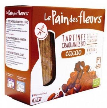 Органические хрустящие хлебцы с какао (без глютена), 160г, Еuro-nat