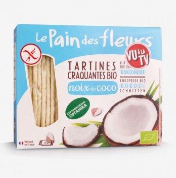 Органические хрустящие хлебцы с кокосом (без глютена), 150г, Еuro-nat