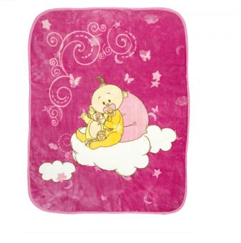 Одеяло детское Golden Spring Малыш, велюр, 100 х 100см, розовое