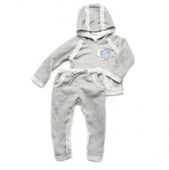 Костюм для мальчиков для малышей Модный карапуз, трехнитка, светло-серый