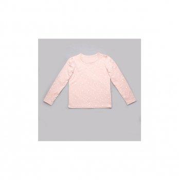 Детский реглан для девочки Модный карапуз Звездочки Розовый