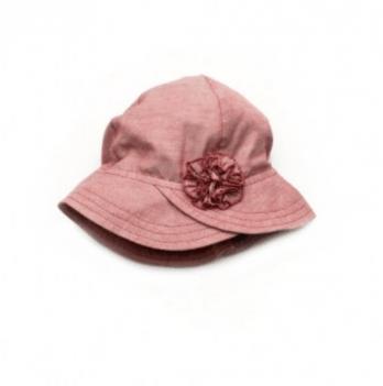 Панама с цветком для девочки Модный карапуз, бордовая