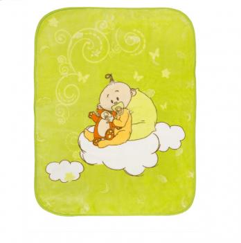 Одеяло детское Golden Spring Малыш, велюр, 100 х 100см, салатовое