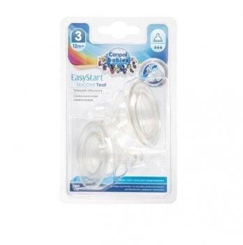 Соска силиконовая мини для бутылочки с широким горлом EasyStart Canpol babies поток быстрый 12+ мес 21/732