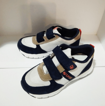 Кроссовки для мальчика Naturino Sport, замша, синие/белые