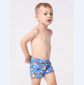 Плавки-шорты для мальчика Keyzi Cars возраст от 2 до 5 лет голубые с рисунком