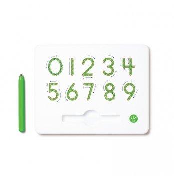 Магнитная доска Kid O для изучения цифр от 0 до 9, 3+ (цвет зеленый)