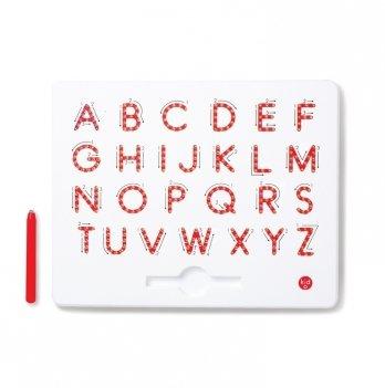 Магнитная доска Kid O для изучения больших английских печатных букв от А до Z, 3+ (цвет красный)