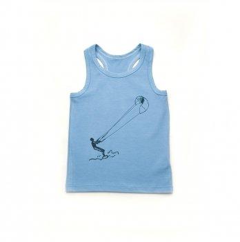 Детская майка для мальчика Модный карапуз Голубой 306-00020