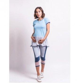 Футболка для беременных Zen Wear Македония Голубой
