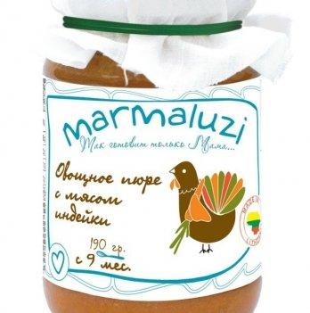 Пюре Marmaluzi из мяса индейки с овощами 190 г