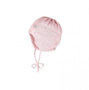 Зимняя шапка с завязками MaxiMo розовая