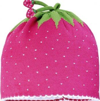 Демисезонная шапочка MaxiMo клубничка розовая