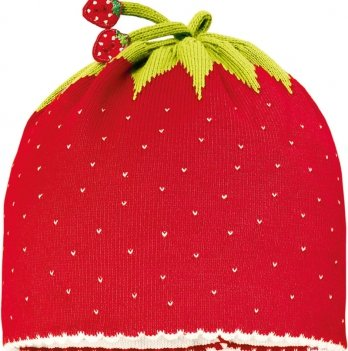 Демисезонная шапочка MaxiMo клубничка красная