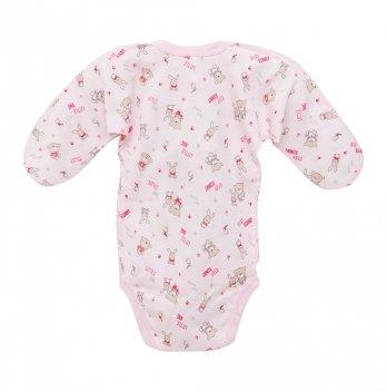 Боди для новорожденных, закрытые ручки, Minikin, розовый