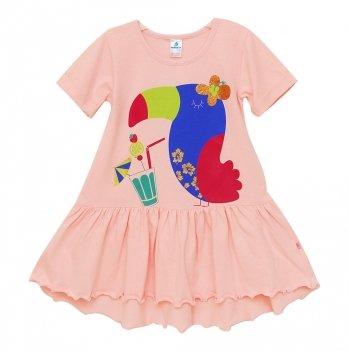 Платье Minikin Розовое Тукан