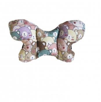 Подушка в коляску Merrygoround Bear pink PKL_22
